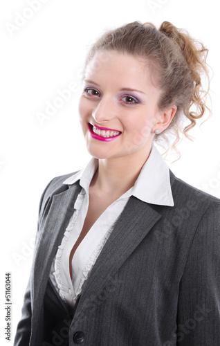 Bewerbungsfoto Einer Frau Als Bankkauffrau Stockfotos Und