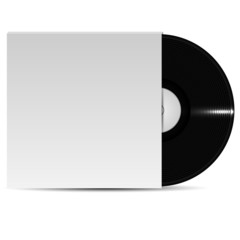 vinyl plate in packing on a white background