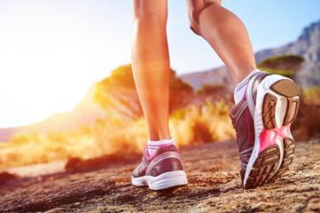 Fototapeta trail running woman obraz