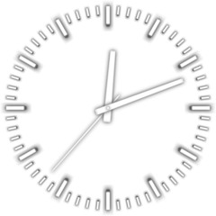 vector white clock