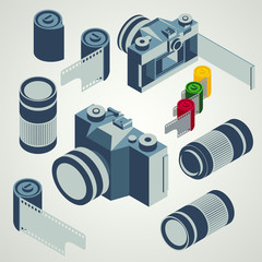photo camera lens film element set