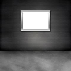 Raum mit Ziegelwand und Bilderrahmen