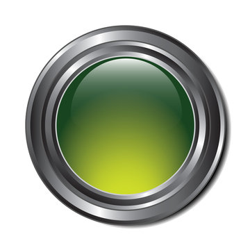 Green Metallic Button