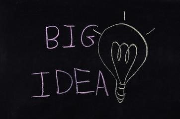 big idea and light bulb