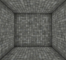 gray black mosaic square tiled empty space