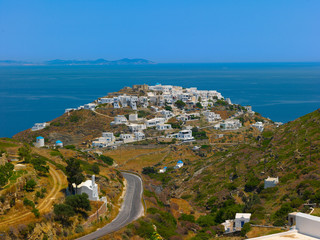 Fototapete - Greece Sifnos,Colorful sea view on the island panoramic