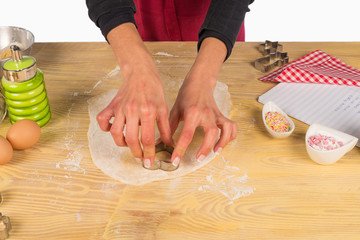 Cutting out dough