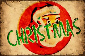 Aluminium Prints Vintage Poster Retroplakat - Christmas