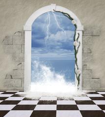 The word through the door - Sea wave