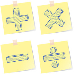 Mathematics signs sketches