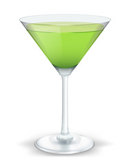cocktail triangular green