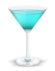 cocktail triangular blue