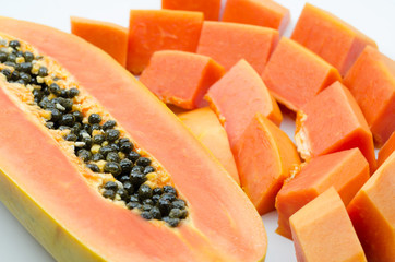 close up of sweet papaya