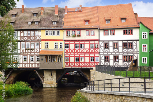 Wall mural Merchants' Bridge. Erfurt, Germany.