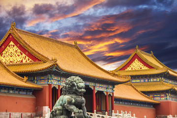 Fotorolgordijn Beijing The Forbidden City of Beijing, China