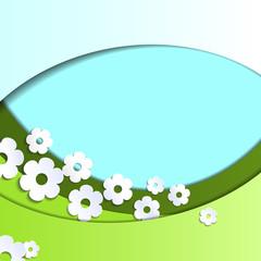 Fotobehang Lieveheersbeestjes Paper flowers background