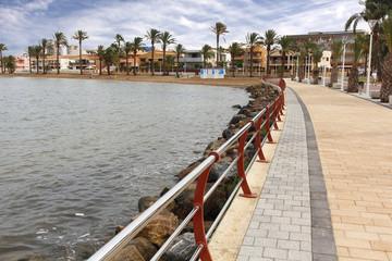 promenade with modern varandilla by the sea