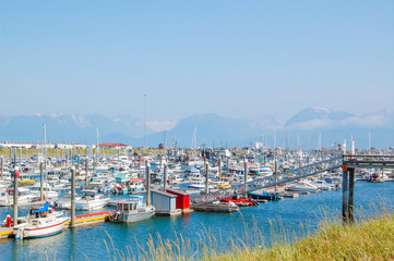 Boat Harbour in Homer, Alaska