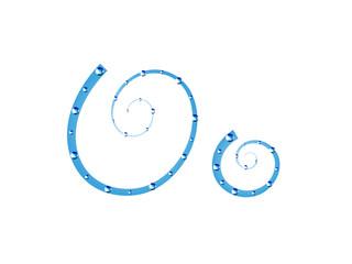 Fairy aqua alphabet. Letter O