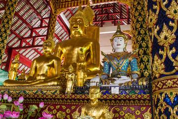 Buddha statue in Wat Suandok , Chiangmai Thailand