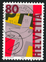 First Swiss postage stamps