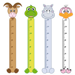 Wall Murals Height scale Bumper children meter wall. Wildlife Stickers