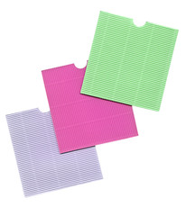 blank colorful papers isolated on background