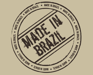 Grunge stamp made in Brazil