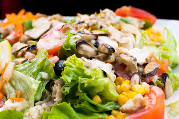 Fresh seafood salad