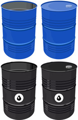 Set barrel oil isolated