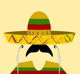 hispanic man wearing sombrereo