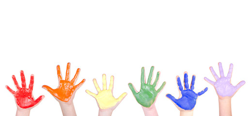 Painted hands for a border