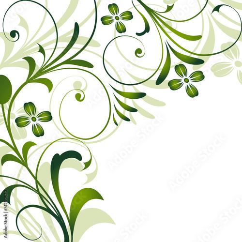 Deko Flora Line rahmen floral blüte blume frühling grün sommer vektor stock image