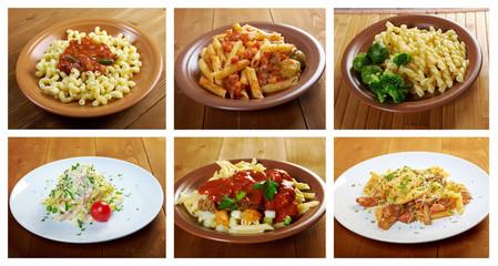 different  italian pasta.