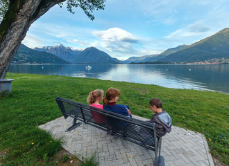Lake Como view (Italy) and family