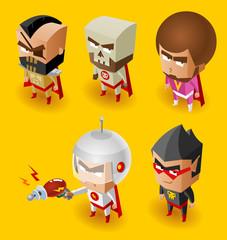 Fotobehang Superheroes Super Villain with evil mind