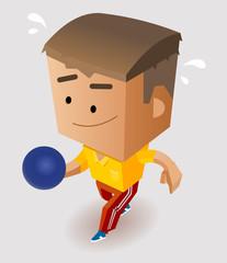 Fotobehang Superheroes Playing Bowling