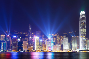 Keuken foto achterwand Hong-Kong Hong Kong city skyline view at night