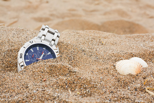 lost wrist watch at the beach