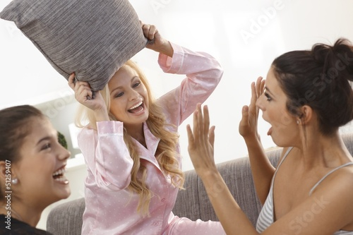 Lesbian pillow fight