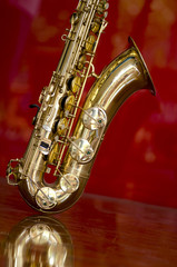 Saxophone brass music instrument
