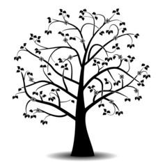 Art tree black silhouette
