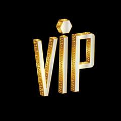Golden VIP letters