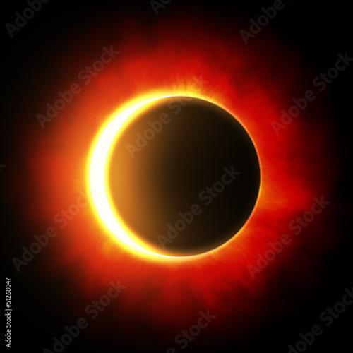Fototapete Sonnenfinsternis