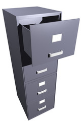 Opened file cabinet (3D)