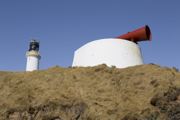 Wall Mural - Girdleness Lighthouse And Foghorn Photo