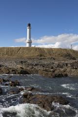 Fototapete - Girdleness Lighthouse And Rocks Photo