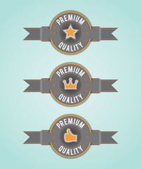 Premium Quality labels. EPS10.