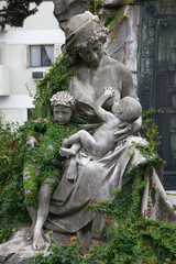 Sculpture in the cemetery of Recoleta, Buenos Aires, Argentina