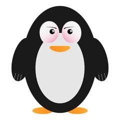 Character wütender Pinguin